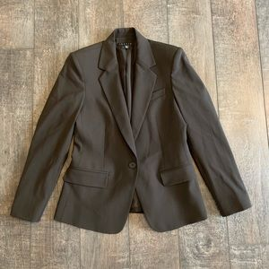 Theory One-Button Suit Jacket Blazer